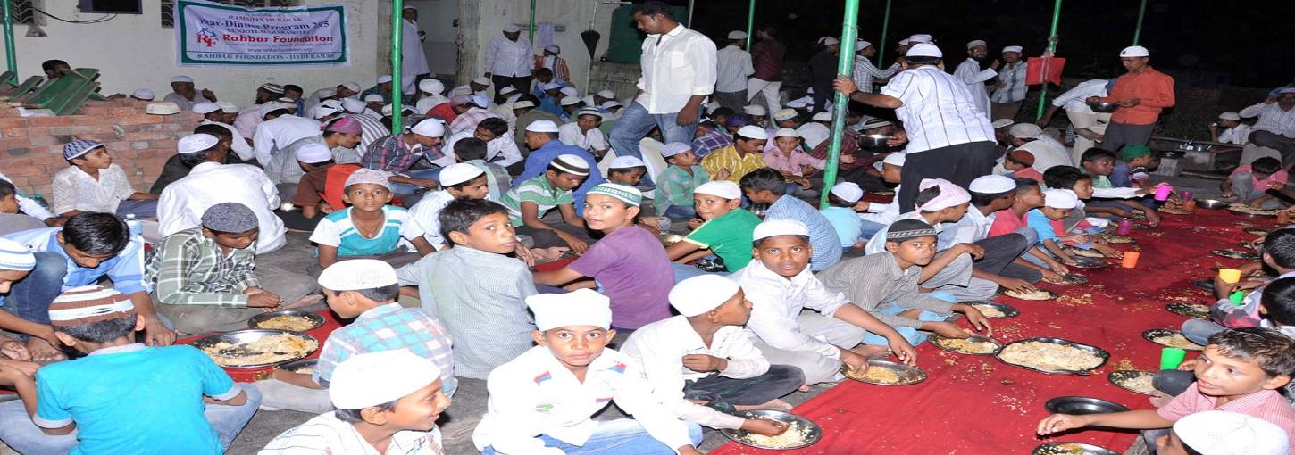 Ramadan Iftar for villagers